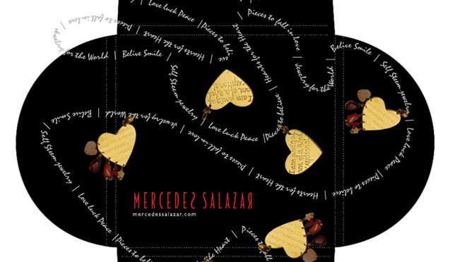 Packaging designs for Mercedes Salazar Jewelry