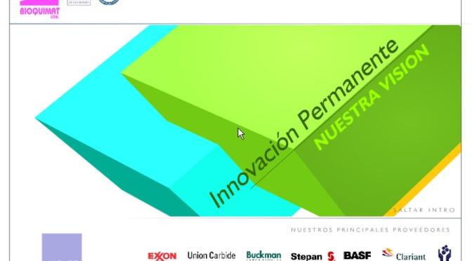 Bioquimat / Multimedia portfolio for a chemical industry