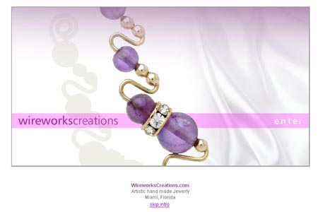 Website for a Jewelry in Miami / Wireworks Creations