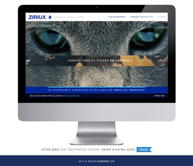 ZIRIUX / Branding & Web Basic Responsive Design.