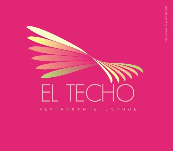 EL TECHO – RESTAURANTE LOUNGE / LOGO, MENÚ Y MANTEL
