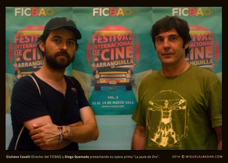 Giulano Cavalli y Diego Quemada FICBAQ 2014