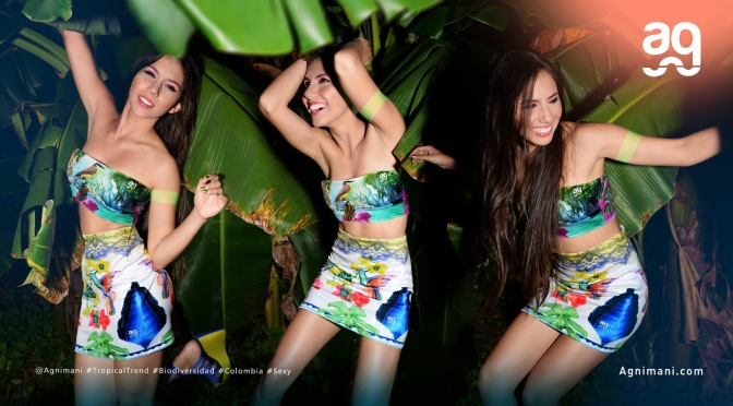 Sexy Modelo y actriz Colombiana Daniela Piedrahita para Agnimani Beach Wear